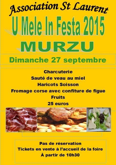 Menu de la Foire du miel 2015 à Murzo